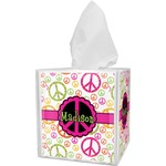 Peace Sign Tissue Box Cover (Personalized)