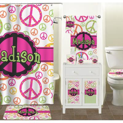Peace sign bathroom