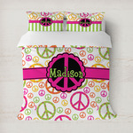 Peace Sign Duvet Cover (Personalized)