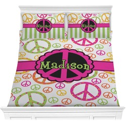 Peace Sign Comforter Set (Personalized)