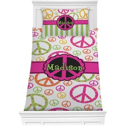 Peace Sign Comforter Set - Twin (Personalized)