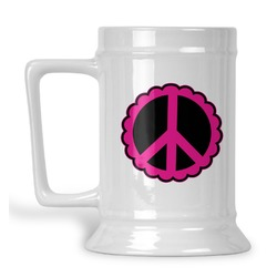 Peace Sign Beer Stein (Personalized)