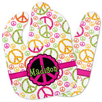 Peace Sign Baby Bib w/ Name or Text