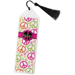 Peace Sign Book Mark w/Tassel (Personalized)