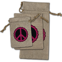 Peace Sign Burlap Gift Bags (Personalized)