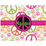Peace Sign Placemat (Fabric) (Personalized)