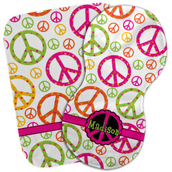 Peace Sign Burp Cloth (Personalized)