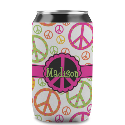 Peace Sign Can Sleeve (12 oz) (Personalized)