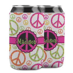 Peace Sign Can Cooler (12 oz) w/ Name or Text