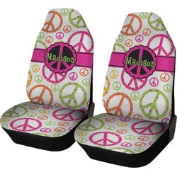 Peace Sign Car Seat Covers (Set of Two) (Personalized)