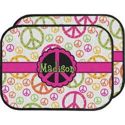 Peace Sign Car Floor Mats (Back Seat) (Personalized)