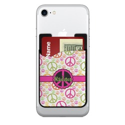 Peace Sign Cell Phone Credit Card Holder (Personalized)