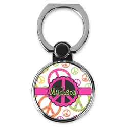 Peace Sign Cell Phone Ring Stand & Holder (Personalized)