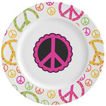 Peace Sign Ceramic Dinner Plates (Set of 4) (Personalized)