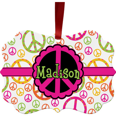 Peace Sign Ornament (Personalized)