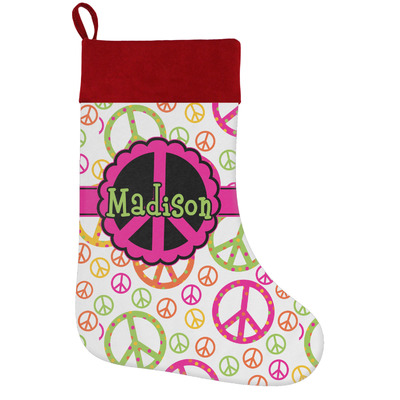 Peace Sign Holiday / Christmas Stocking (Personalized)