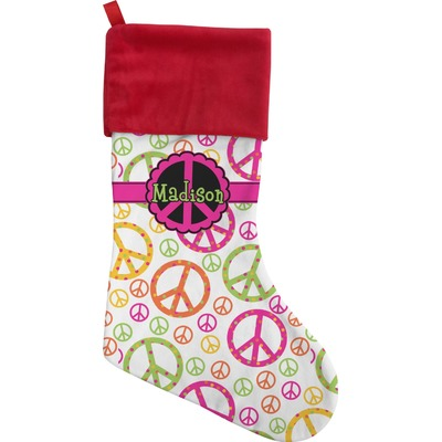 Peace Sign Christmas Stocking (Personalized)