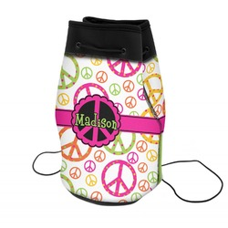 Peace Sign Neoprene Drawstring Backpack (Personalized)