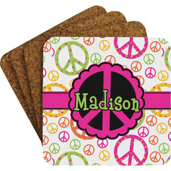 Peace Sign Coaster Set (Personalized)