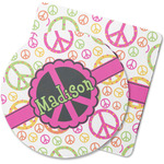 Peace Sign Rubber Backed Coaster (Personalized)