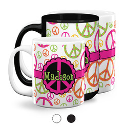 Peace Sign Coffee Mugs (Personalized)