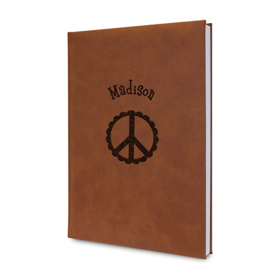 Peace Sign Leatherette Journal (Personalized)