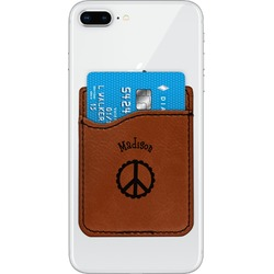 Peace Sign Leatherette Phone Wallet (Personalized)