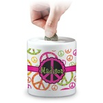 Peace Sign Coin Bank (Personalized)