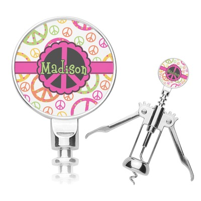 Peace Sign Corkscrew (Personalized)