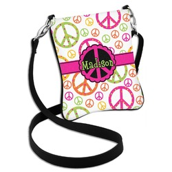 Peace Sign Cross Body Bag - 2 Sizes (Personalized)