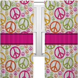 Peace Sign Curtains (2 Panels Per Set) (Personalized)