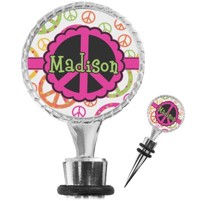 Peace Sign Wine Bottle Stopper (Personalized)