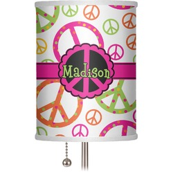 "Peace Sign 7"" Drum Lamp Shade (Personalized)"