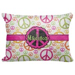 "Peace Sign Decorative Baby Pillowcase - 16""x12"" (Personalized)"