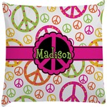 Peace Sign Decorative Pillow Case (Personalized)