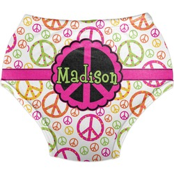 Peace Sign Diaper Cover (Personalized)