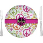 Peace Sign Glass Lunch / Dinner Plates 10
