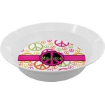 Peace Sign Melamine Bowl (Personalized)