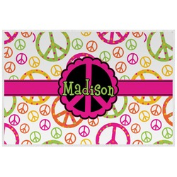 Peace Sign Laminated Placemat w/ Name or Text