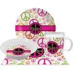 Peace Sign Dinner Set - 4 Pc (Personalized)