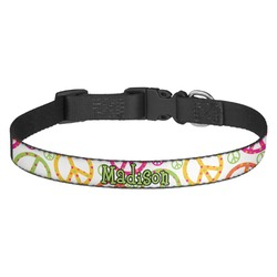 Peace Sign Dog Collar - Multiple Sizes (Personalized)