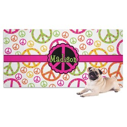 Peace Sign Dog Towel (Personalized)
