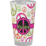 Peace Sign Drinking / Pint Glass (Personalized)