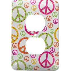 Peace Sign Electric Outlet Plate (Personalized)