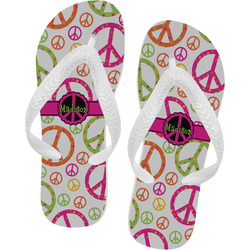 Peace Sign Flip Flops - Large (Personalized)