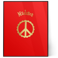 Peace Sign 8x10 Foil Wall Art - Red (Personalized)