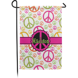 Peace Sign Garden Flag - Single or Double Sided (Personalized)