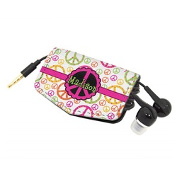 Peace Sign Genuine Leather Cord Wrap (Personalized)