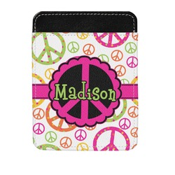 Peace Sign Genuine Leather Money Clip (Personalized)