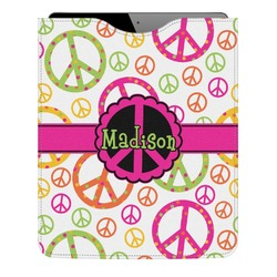 Peace Sign Genuine Leather iPad Sleeve (Personalized)